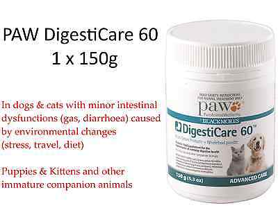 1 x 150g PAW DigestiCare 60 ( Multi-strain Probiotic ) for Dogs Cats BLACKMORES