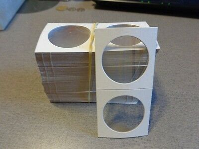 *100 LARGE DOLLAR SIZE 2X2 CARDBOARD/MYLAR COIN HOLDERS FLIPS* NEW * Lot M22 *