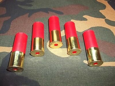 12 Gauge Snap Caps,  Red,  High Brass,  5 Pack