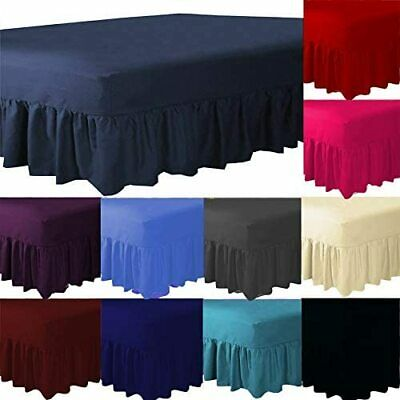 Poly Cotton Plain Dyed Cotton Blend Fitted Valance Sheets Bed Sheet Sheets Sizes