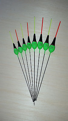 Pack of 5 High Quality Pole Fishing Floats WE312 Various Sizes Available