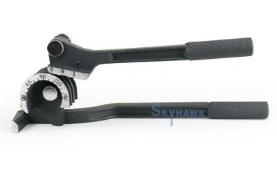 """New 3 in 1 Pipe Tube Bender 1/4"""" 5/16"""" 3/8"""" 90° Straight Angle Plumbing Tools"""
