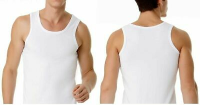 Mens White Cotton Chesty Plain Singlet Tops Top Gym Singlets Size L XL XXL