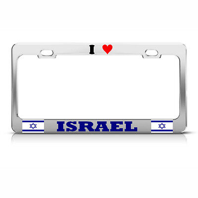 I LOVE SEA TURTLES Chrome Metal Heavy Duty License Plate Frame Tag Border