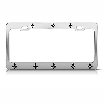 fleur de lis license plate frame flower of the lily chrome tag