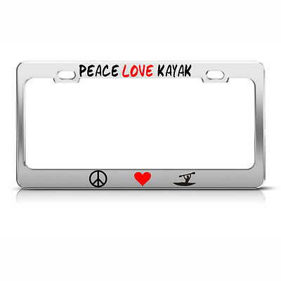 I LOVE HEART THEATER License Plate Frame Metal Chrome MOVIE LOVER Tag Border