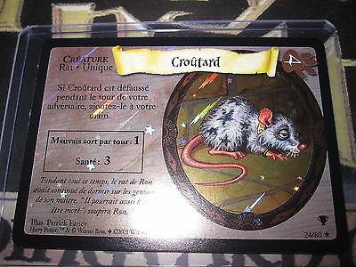 Harry Potter Trading Card Tcg Quidditch Coupe Croûtard 24/80 Rare Fr Foil Mint