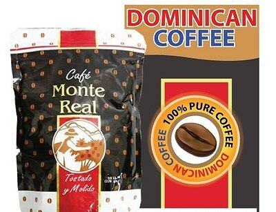 4 Pounds Organic Monte Real Dominican Coffee Cafe Monte Real Free Shipping!!!