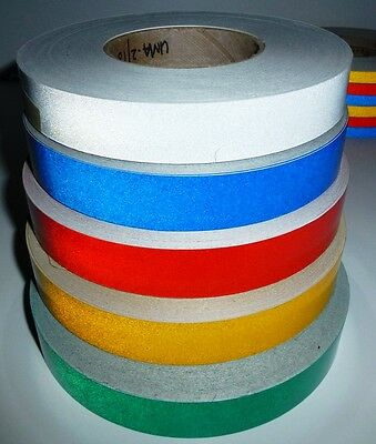 3M™ CLASS 2 REFLECTIVE TAPE RED, GREEN, BLUE, YELLOW, WHITE  50mm x 1 METRE NEW