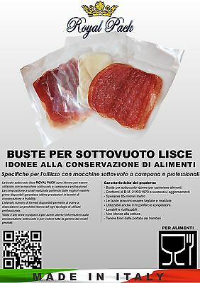 ROYAL PACK SACCHETTI BUSTE SOTTOVUOTO VACUUM LISCE 30x40 100 pz SMOOTH ALIMENTI