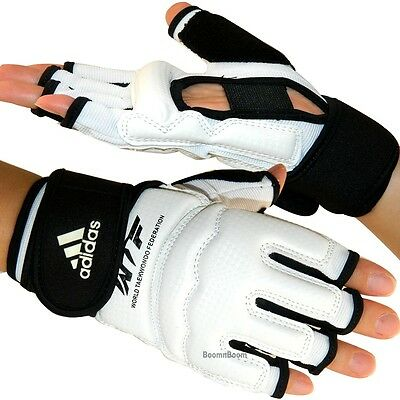 New adidas Taekwondo Hand Protector Gloves WTF Approved MMA Karate Sparring Gear
