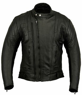Stealth Motorbike Leather Jacket Motorcycle Protection Armour CE , S M L XL 2XL