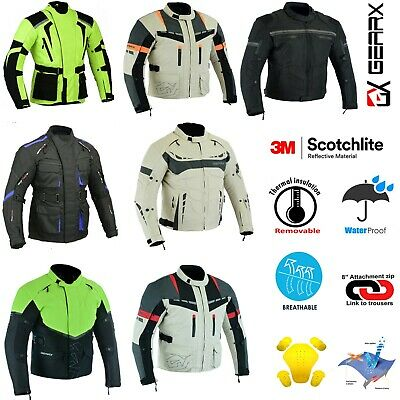 Motorbike Jacket Motorcycle Waterproof All Weather Protective Coat CE Armours