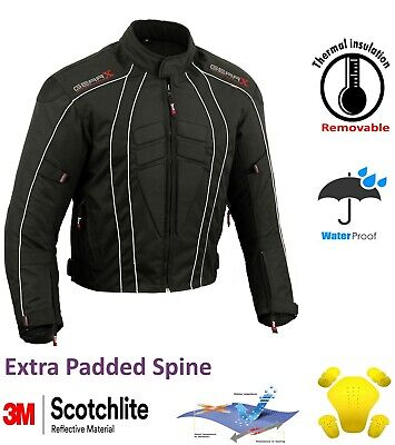 DryLite Motorbike Motorcycle Jacket Wind/ Waterproof Protection Armours