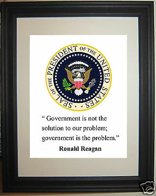 """Ronald Reagan  """" problem"""" Quote Framed Photo Picture # sp1"""