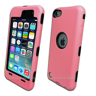 Pink Protective Heavy Duty Cover for Apple iPod Touch 5 5th Gen Hard Case