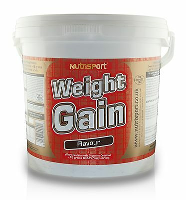 Nutrisport Weight Gain High Protein Powder Mass Gainer - 5Kg - All Flavours