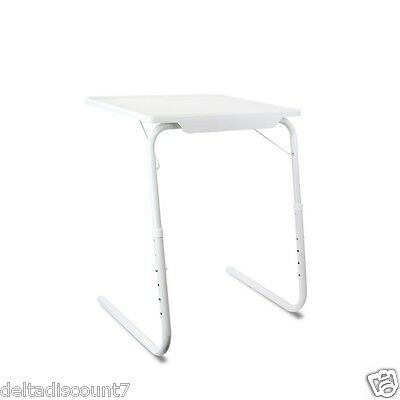 1PK-White Adjustable Laptop Foldable Folding Tray like AS SEEN ON TV TABLEMATE 2