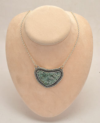 Beautiful Roman Glass Necklace Authentic & Luxurious 925 Silver Sterling.