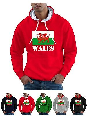 Wales Hoodie Welsh Dragon of Cadwallader St Davids Day Mens Womans Sweat Shirt