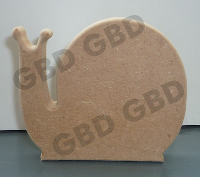95mm x 18mm thick //WOODEN CRAFT SHAPE//GARDEN//NATURE SNAIL SHAPE IN MDF