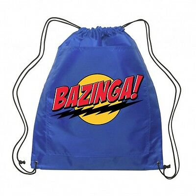 Official Licensed Big Bang Theory Bazinga Backsack Swimbag Gymbag 2 Colours