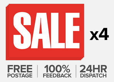 4x Large Shop Red Sale Window Banner Poster 840x594mm FREE P&P - IN STOCK