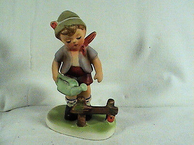 Enesco Figurine, Boy With Watering Can