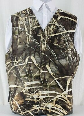 New Realtree Max 4 Camo Wedding Formal Full Back with adjuster Vest max-4 prom