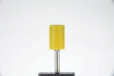 "Saburr-Tooth Power Carving Tool 1/4"" Shank Cylinder 3/4"" Fine Grit Yellow NEW"