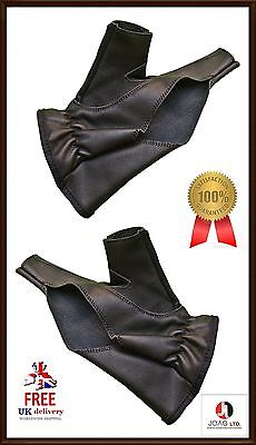 Bow Glove Left Hand & Right Hand ( Black ) Hunting Bow Leather Shooting Gloves