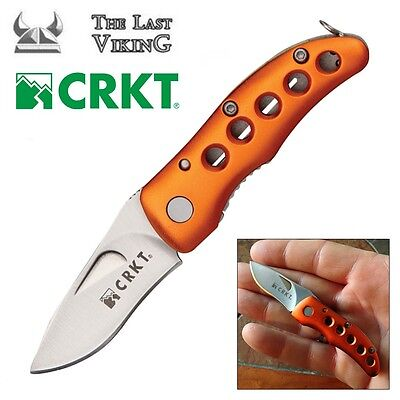 CRKT Shrimp - Orange Small Folding Blade Knife 1182 Mcginnis Shrimp Orange