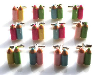 Gorgeous Handmade Crayon Cufflinks - You Decide Which Colours - Fast Shipping