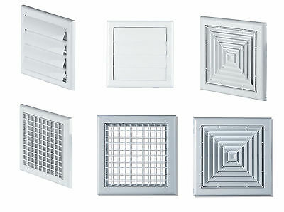 White Ventilation Cover Air Vent Grille Outside Gravity Flaps Wall Ceiling Grid