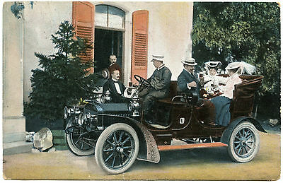 Ancienne Automobile Avec Chauffeur .old Car With Driver.
