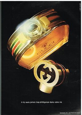 Publicité Advertising 1980 Le parfum Gucci