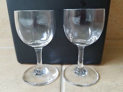 Set of 2 Baccarat Crystal Montaigne Optic Cordial Glasses