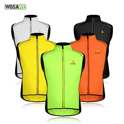 Hi-Viz Hi Vis High Visibility Fluorescent Running / Cycling Vest Gilet Top Shirt