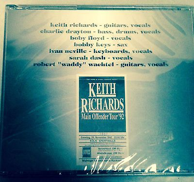 KEITH RICHARDS -ROLLING STONES - MAIN OFFENDER TOUR '92 - 2 CD LIVE NO CDr -MINT
