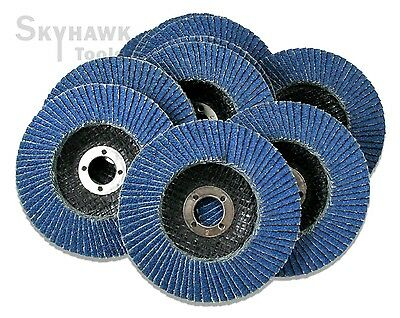 "New 10-PC 4"" x 5/8"" Premium Zirconia Grinding Wheel Flap Disc 40 Grit"