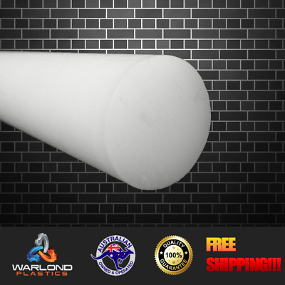 White UHMWPE Rod (30mm) Diameter x 245mm Long - Ralloy - Tivar - Matrox - Pol...