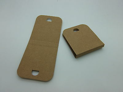 1000 Small Necklace Display Tags  Brown Recycled Card,