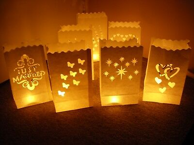 white tealight candle bags luminary wedding party event home decoration10pcs/lot