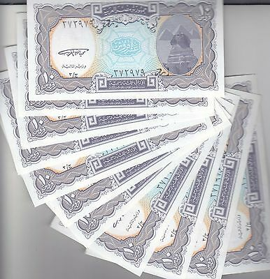 EGYPT 10 PIASTERS 1999 P-189a SIG/GHAREEB LOT X10 UNC NOTES */*