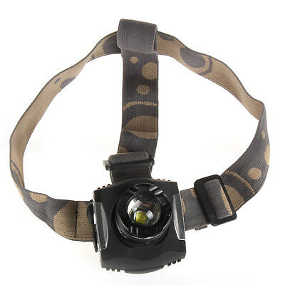 1600 Lumens  SecurityIng CREE XM-L T6 LED Zoomable Rechargeable Li-Po Headlamp