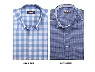 c4561d94 Gcm Premium Cotton Long Sleeved Checked Shirts (3145)Size 2Xl To 5Xl, 2