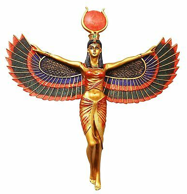 Ancient Egyptian Legendary Winged Goddess Isis Statue Magic Wall Plaque Decor