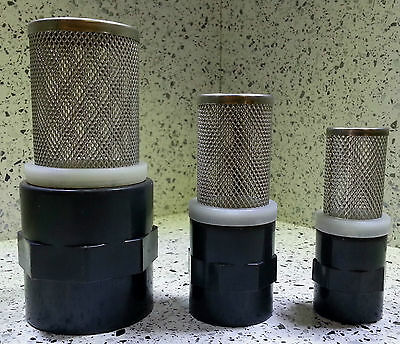 Stainless Steel Filter Cage, Sump Return, 3 Sizes, Solvent Weld Marine Pipe Fish