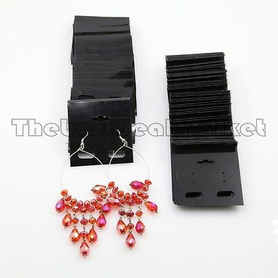 """100 Pc Black Color Earring Jewelry Tag Display Cards Price Hang Tag 2"""" x 2"""" USA"""