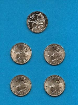 2014 P D Pos. A and B and S Proof Sacagawea Native American Dollars-FIVE COINS